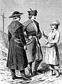 People of Poland, 19th century illustration