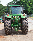 Rear view of a tractor