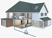 Domestic plumbing, illustration
