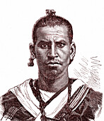 Berber man, 19th century illustration