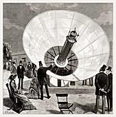 Mouchot's solar engine, illustration
