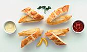 Sandwiched fish fillets