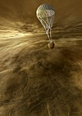Venera 8 approaching Venus, illustration