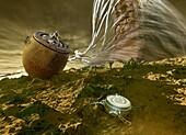 Venera 8 on Venus, illustration