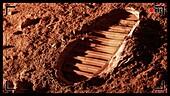 Bootprint on Mars, illustration