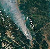 British Columbia wildfire, June 2021