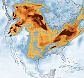 Wildfire smoke over North America, July 2021