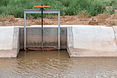 Water from Rio Grande being diverted for irrigation
