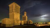 Aghazadeh Mansion, Iran, at night