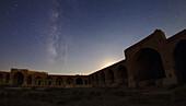 Perseid Meteor over a caravanserai, Iran