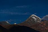 Night sky over Mount Kazbek, Georgia