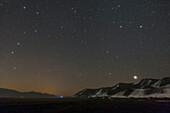 Big Dipper, Leo and Jupiter, Alborz Mountains, Iran