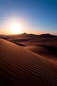 Sunset, Lut desert, Iran