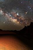 Milky Way over Lut desert, Iran