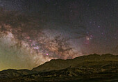 Milky Way rising over mountains