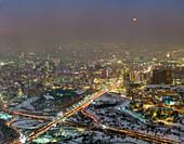 Lunar eclipse over Tehran, Iran