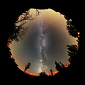 Milky Way band, 360-degree view