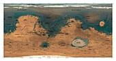Water on Mars, illustration
