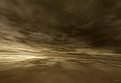 Clouds over Venus, illustration