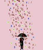 Dyslexia, conceptual illustration