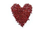 Azuki beans in shape of a heart