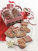 Calze della Befana (stockings made of gingerbread dough, Italy)