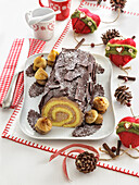 Yule log with chestnut cream (Italy)