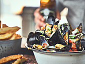 Belgian mussels from the Dutch Oven