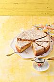 Apricot and hazelnut cake