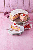 Japanese raspberry cake