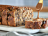 Banana Bread with almond butter and chocolate