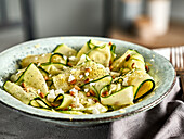 zucchini salad with feta and pine nuts