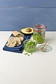 Vegan pea-and-avocado spread