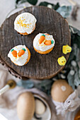 Carrot muffins and Easter chicks