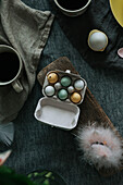 Studio shot of eggs in egg carton