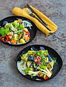 Regenbogen-Kartoffelsalat