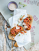 Pan con tomate with cinnamon aioli and Greek yoghurt