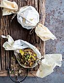 Cashew-Cheese-Pockets mit Feigen und Ahornsirup