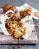 Yuzu curd muffins