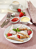 Strawberry pastries