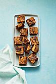 Banana Peanut Brownies (sugar free)