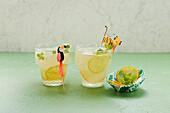 Zitronen-Melissen-Limo (zuckerfrei)