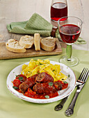 Italian minced meat rolls with Parma ham