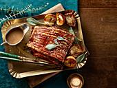 Roast pork with sage
