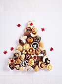 Christmas tree from cookies