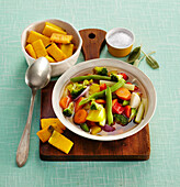 Vitamin soup with polenta crackers