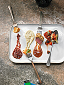 Saucen-Variationen zu Geflügel, Fisch, Fleisch und Nudeln