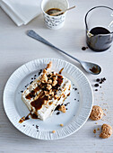 Coffe ice-cream with coffe syrup
