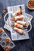 Popsicles with bloodorange and yogurt