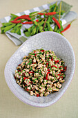 Laab Gai – spicy chicken salad with lemongrass (Thailand)